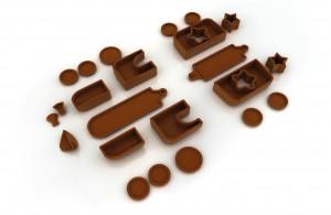 Giocolosi di cioccolato: come costruire un trenino di cioccolato.