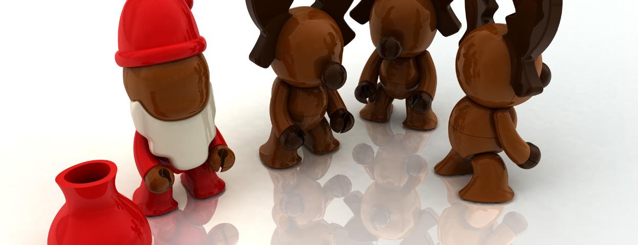 Laboratorio di ciocco-soggetti ispirati al Natale!