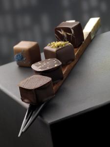 Assortimento di praline al cioccolato