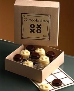 Gioco tris di cioccolato